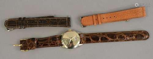 Lord Elgin digital wristwatch having gold mask with
