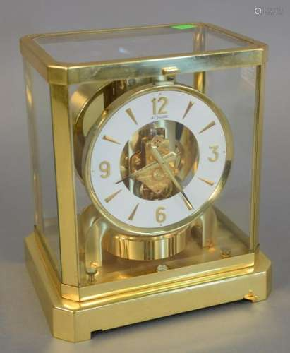 Lecoultre Atmos clock. ht. 9 in., 5 1/2