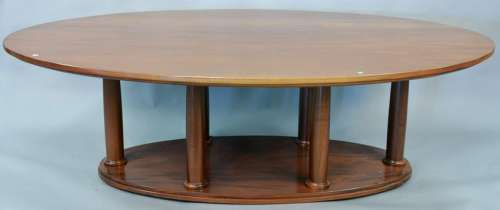 Dan Mosheim mahogany conference table on six column