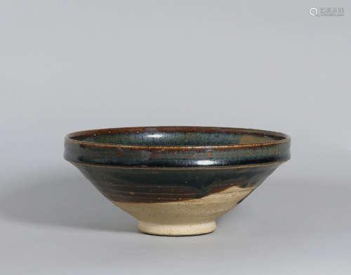 12至13世纪 河南黑釉醬斑盌