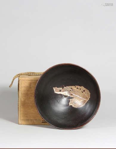 宋 吉州窯木葉碗