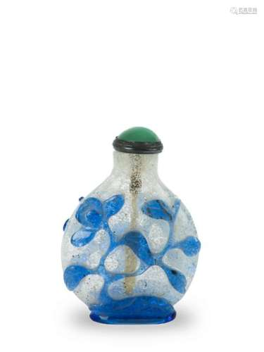 Chinese Blue Peking Glass Snuff Bottle, 19th Century