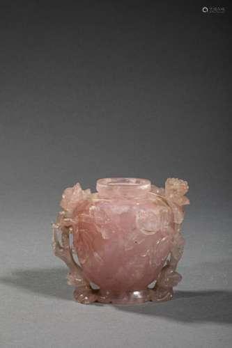 CHINE, XIX et XXème siècle. Lot de deux vases comp…