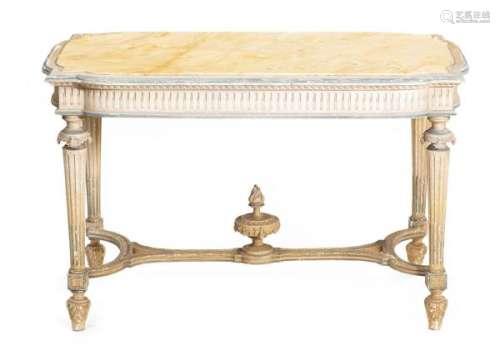 Table de chasse de style Louis XVI avec plateau de marbre jaune - Table de chasse de [...]
