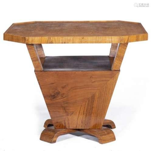 Table de milieu Art déco - Table de milieu Art déco en loupe d'orme et placage [...]