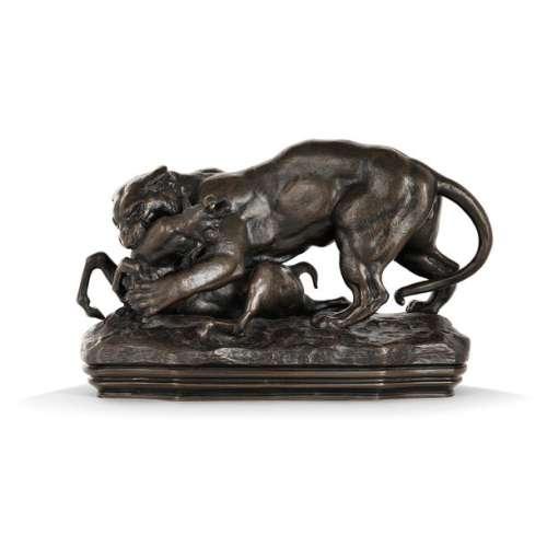 ANTOINE LOUIS BARYE (1796 1875)A surprising tiger …