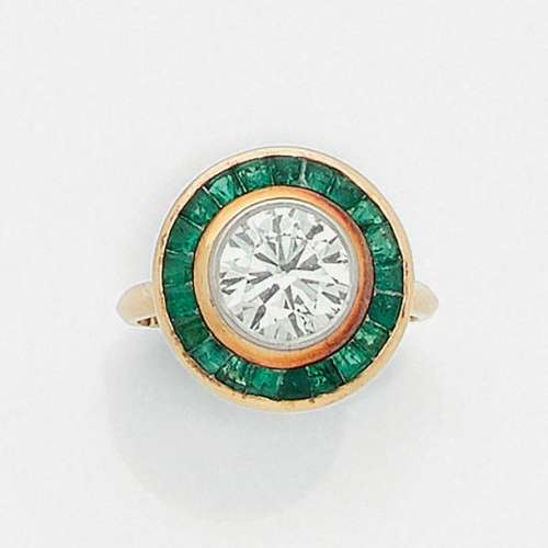 FRENCH DIAMOND AND EMERAUDED WORKINGShe is round i…