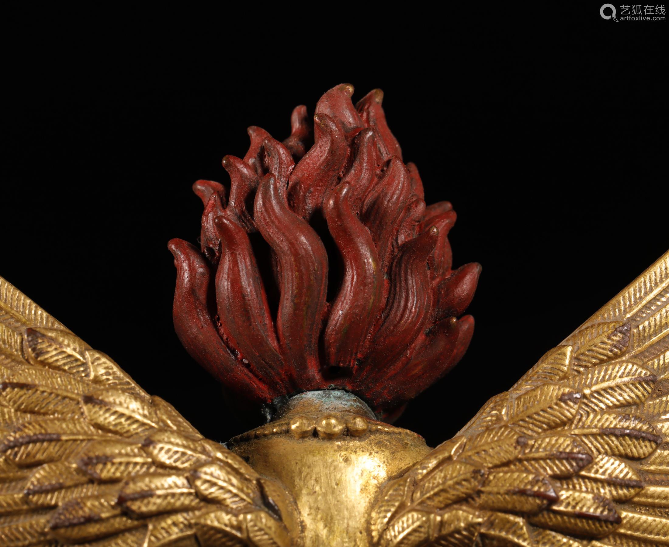 清代 铜鎏金大鹏金翅鸟
