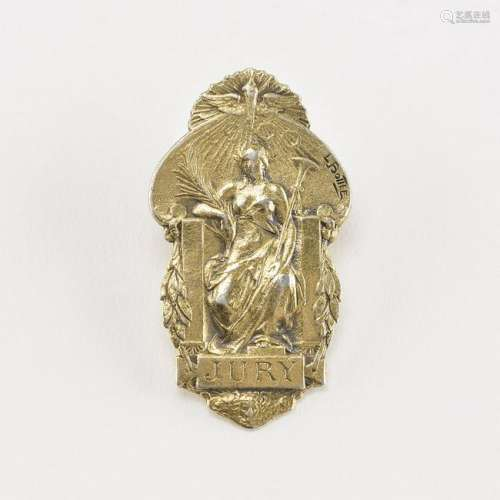 Paris 1900 Exposition Universelle Jury Lapel Badge