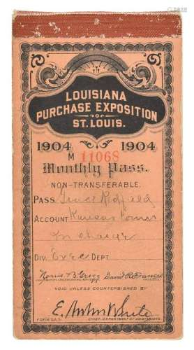 St. Louis 1904 Exposition and Summer Olympics Ticket