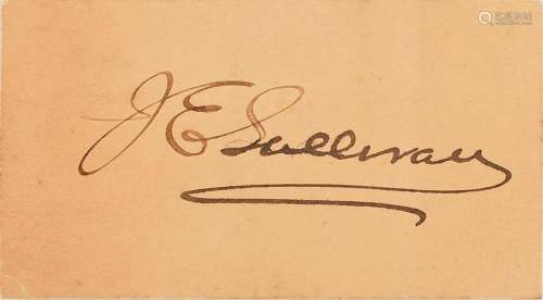 James Edward Sullivan Signature