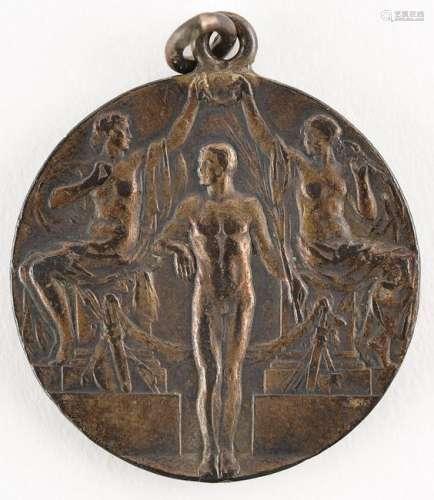 Stockholm 1912 Summer Olympics Silver Winner's Medal