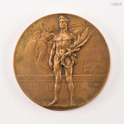 Antwerp 1920 Summer Olympics Bronze Winner's Medal