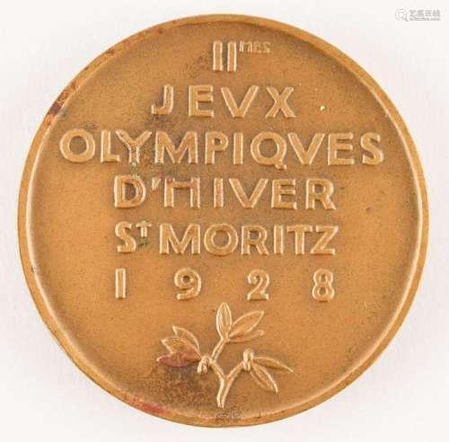 St. Moritz 1928 Winter Olympics Bronze Participation