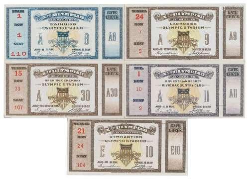 Los Angeles 1932 Summer Olympics Tickets