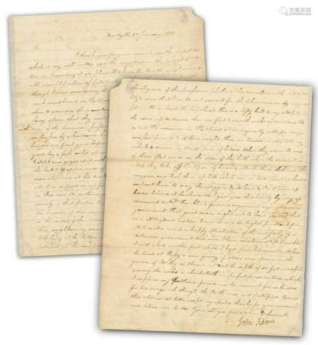 Declaration Signer John Adams LS Re: Benjamin