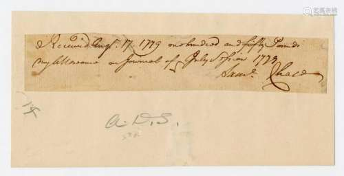 Declaration Signer Samuel Chase War Dated Document