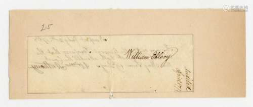 Declaration Signer William Ellery Superb Signature