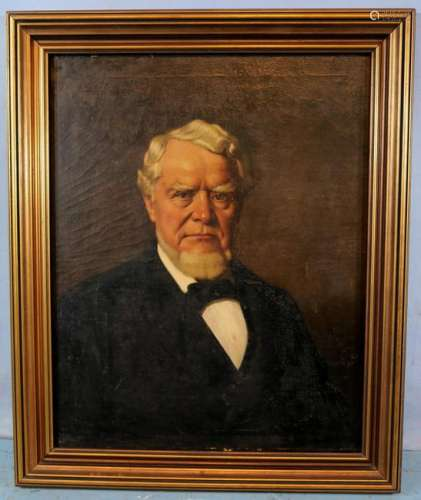 Oil on canvas of Willoughby Williams Jr., 1880's