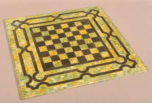 Victorian Painted Slate Gameboard.