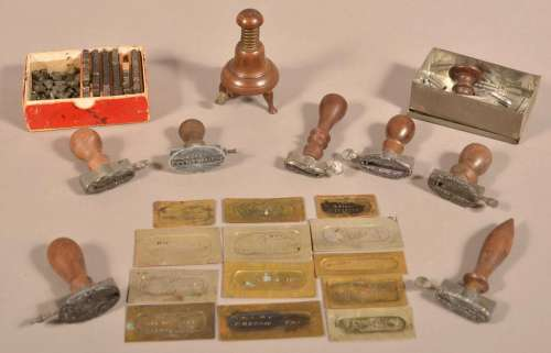 Lot of Antique/Vintage Stencils and Type Setting Items.