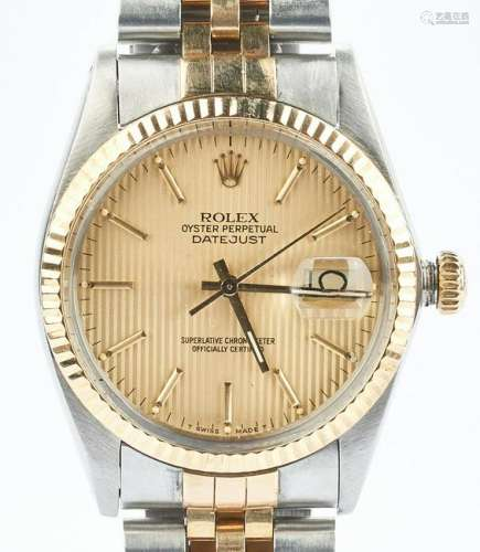 Mens Rolex Oyster Perpetual Datejust Wristwatch