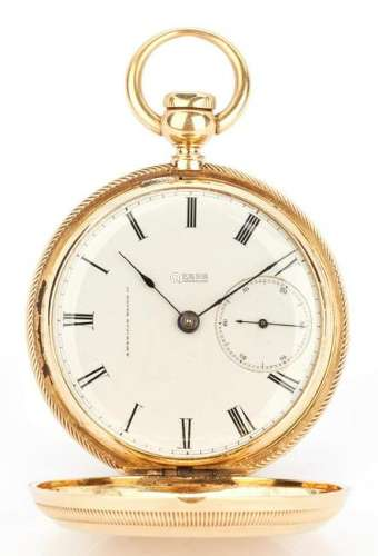 18K Waltham Hunting Case Watch, 1857