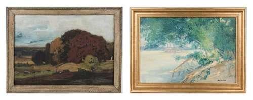 2 Indiana O/B Landscape Paintings