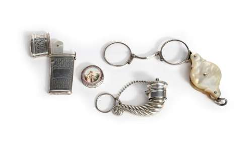 A small mixed lot, comprising silver items: a Geor…