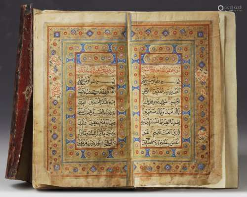 A LEATHER BOUND QURAN FROM KASHMIR