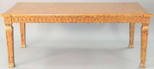 Contemporary dining table, ht. 30 in., top 41