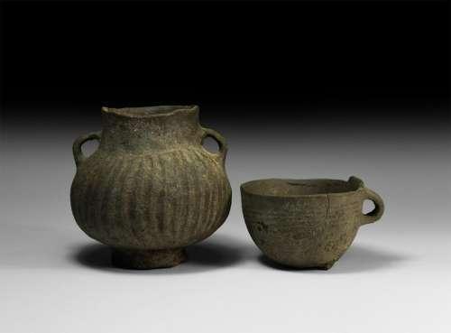 Roman Ribbed Ceramic Group