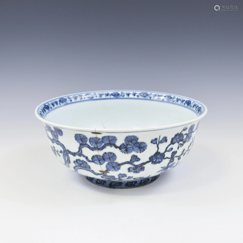 XUANDE BLUE & WHITE FRIENDS IN WINTER MOTIFB…