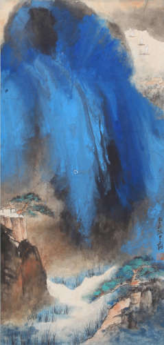 Daqian Zhang - Mountain Scenery Shan Shui Painting
