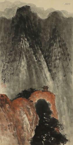 Shi Lu - Mountain Scenery Shan Shui Painting