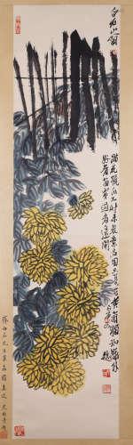 Qi Baishi - Chrysanthemum Painting