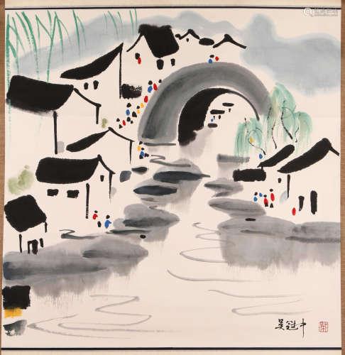 Wu Guanzhong - Water Village Painting