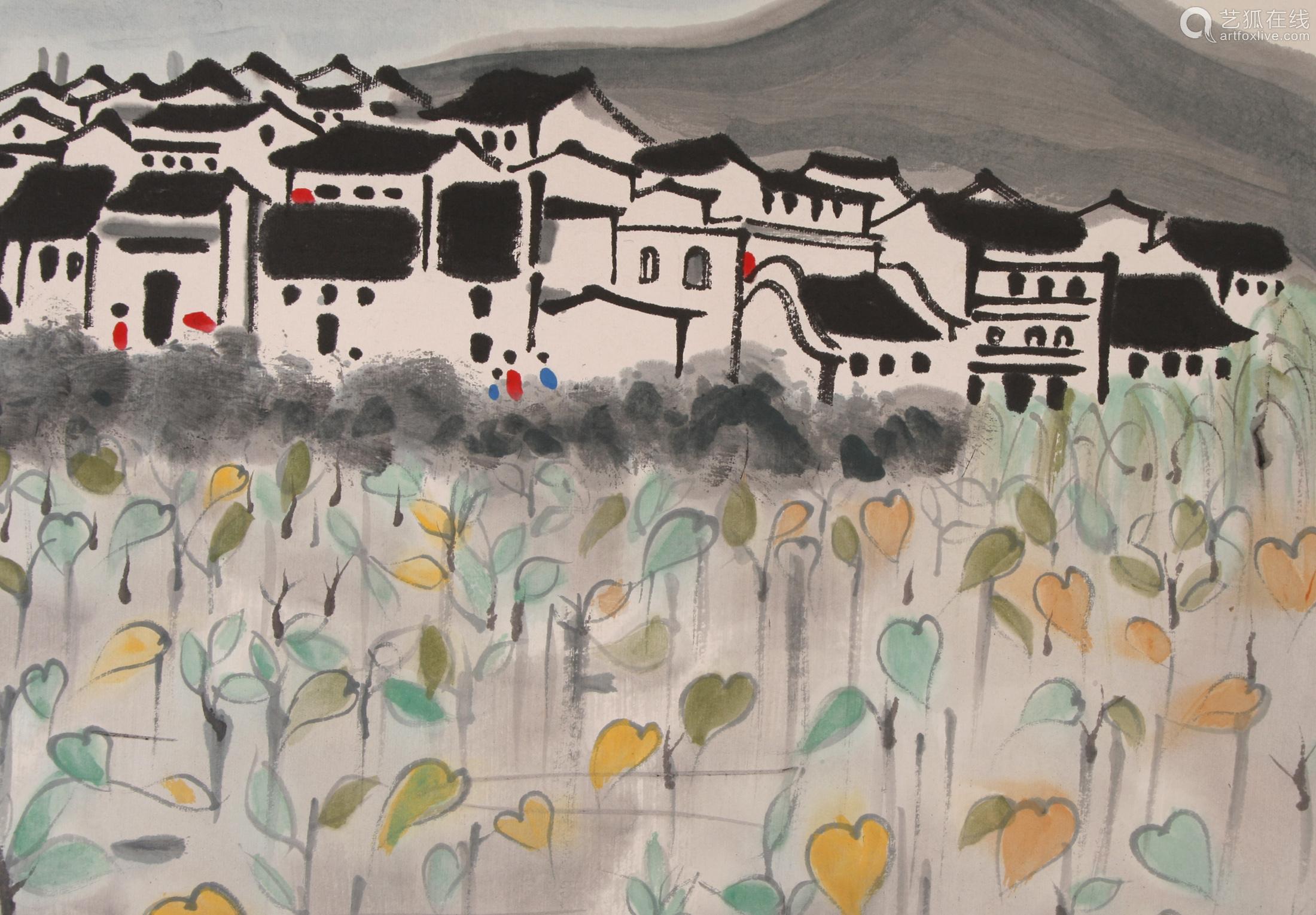 Wu Guanzhong - Painting of Homeland