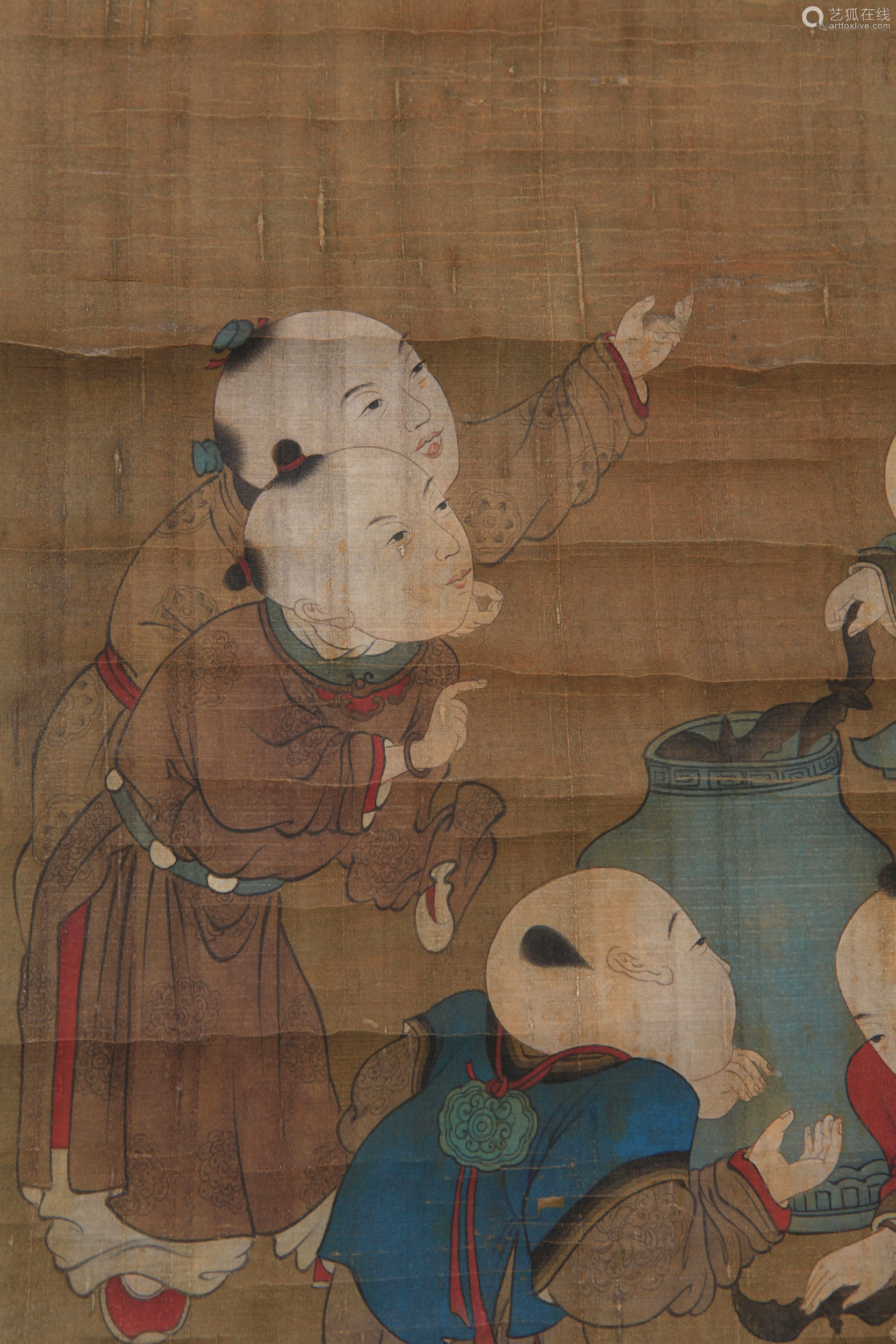 Lu Wenying - Painting of Playing Figures