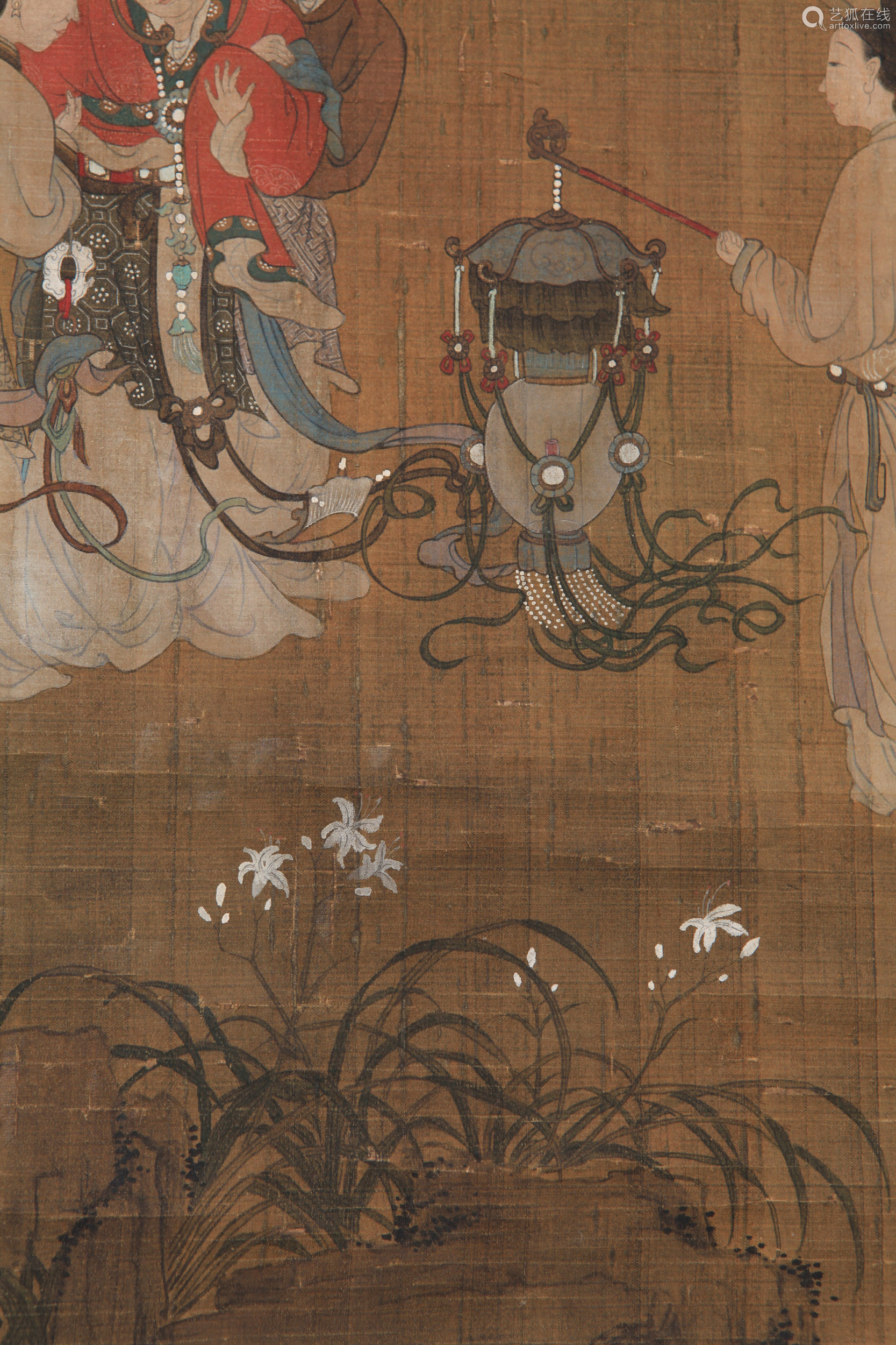 You Qiu - Painting of Figures in Chinese Pavilion