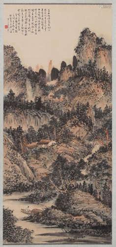 Banding Chen - Mountain Scenery Shan Shui Painting