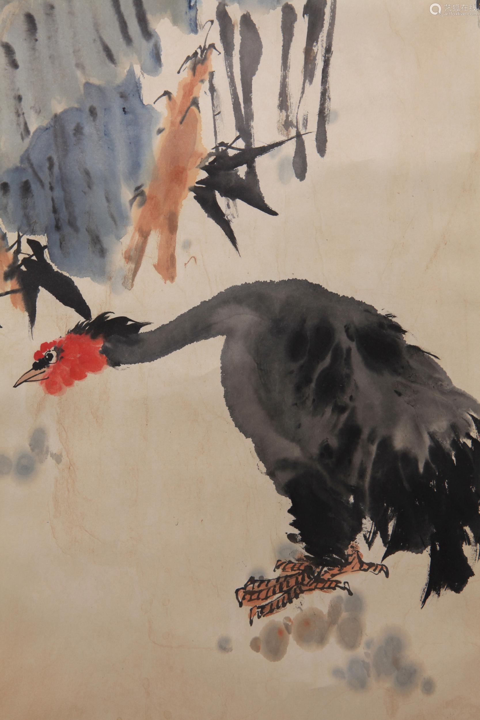 Pan Tianshou - Flower and Birds Painting