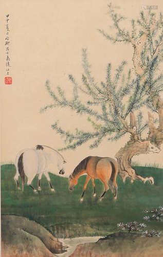 Xie Zhiliu - Painting of Horses