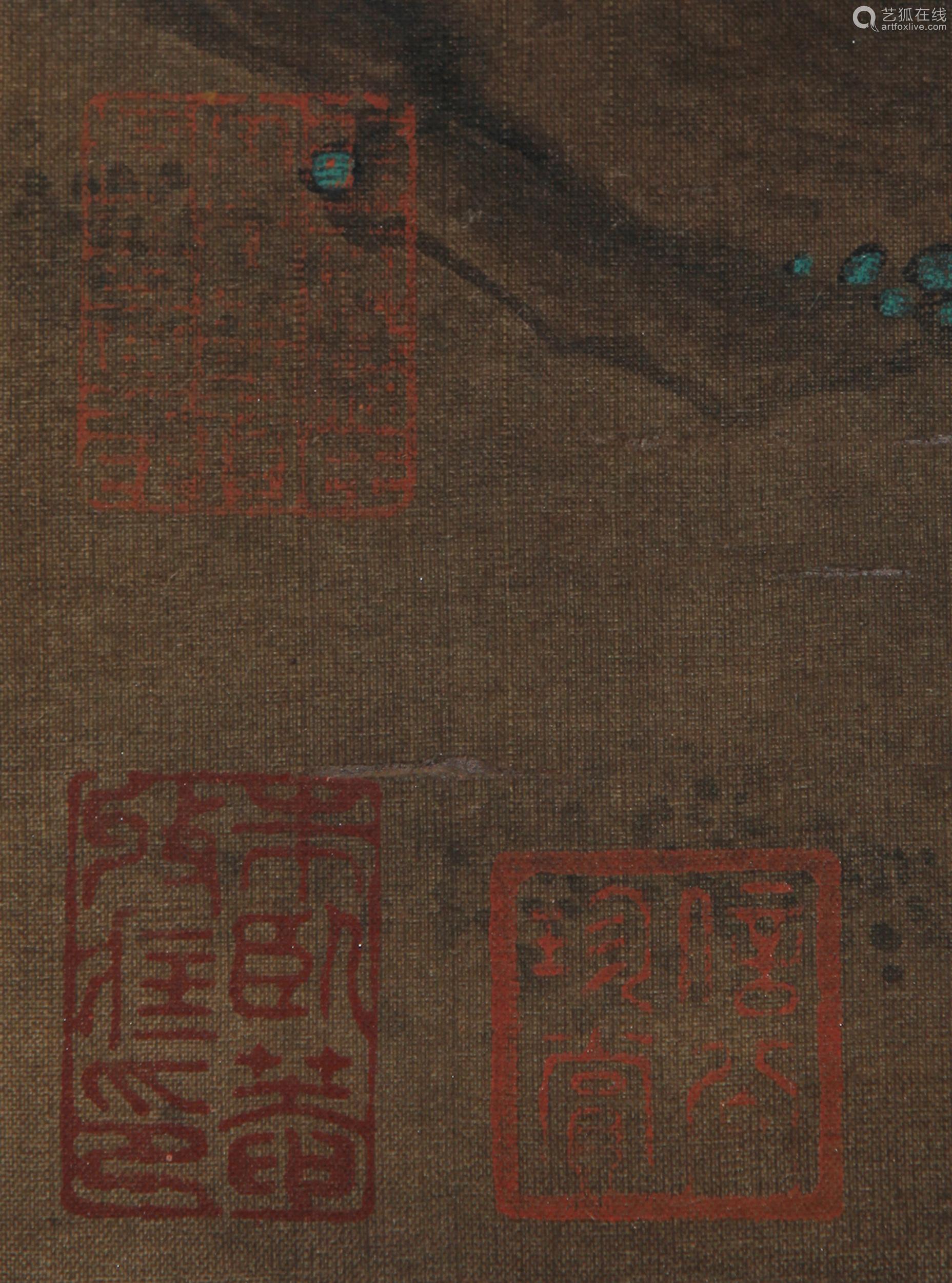 Lu Ji - Painting of a Pair of Eurasian Magpie