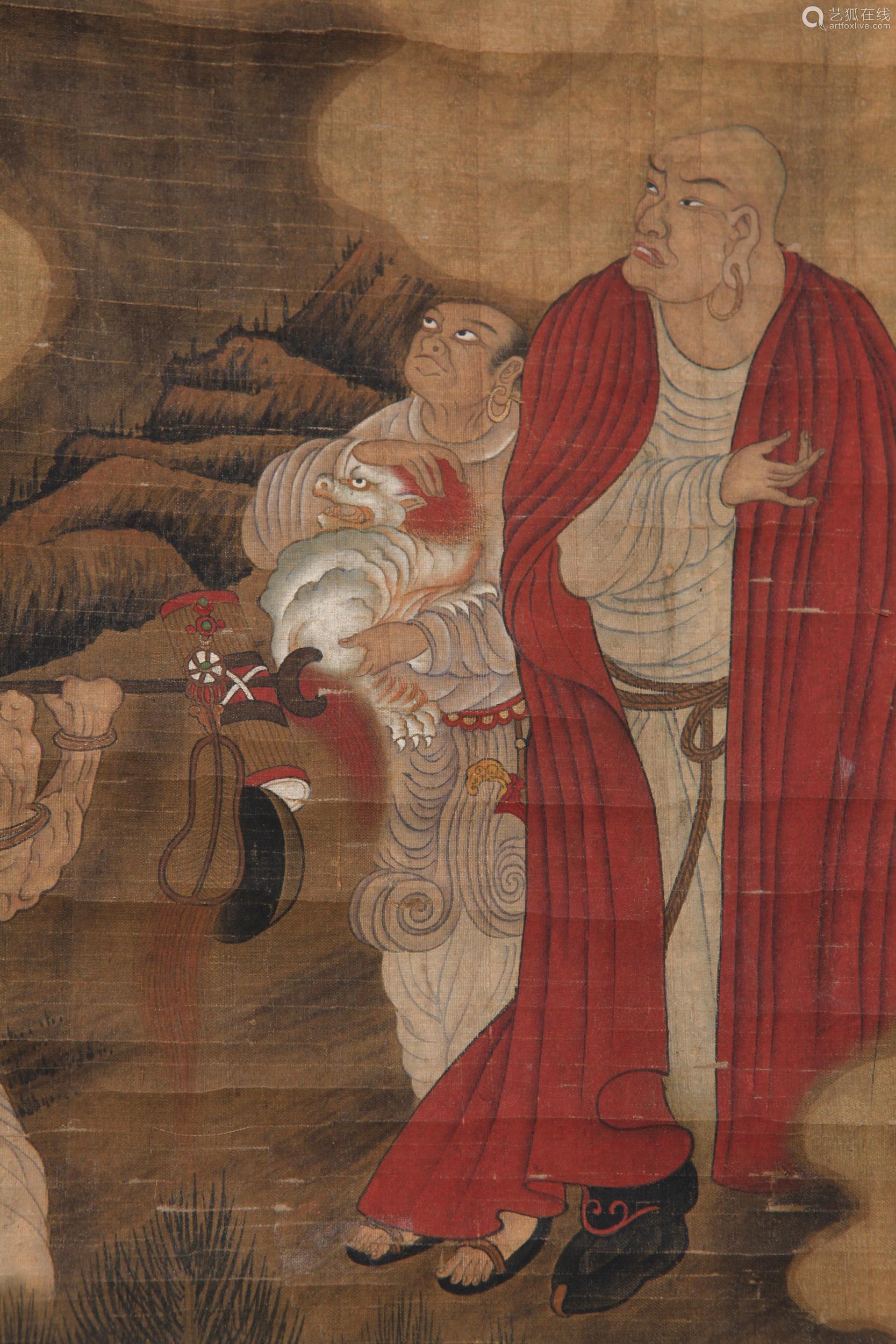 Wu Bin - Painting of Buddhas