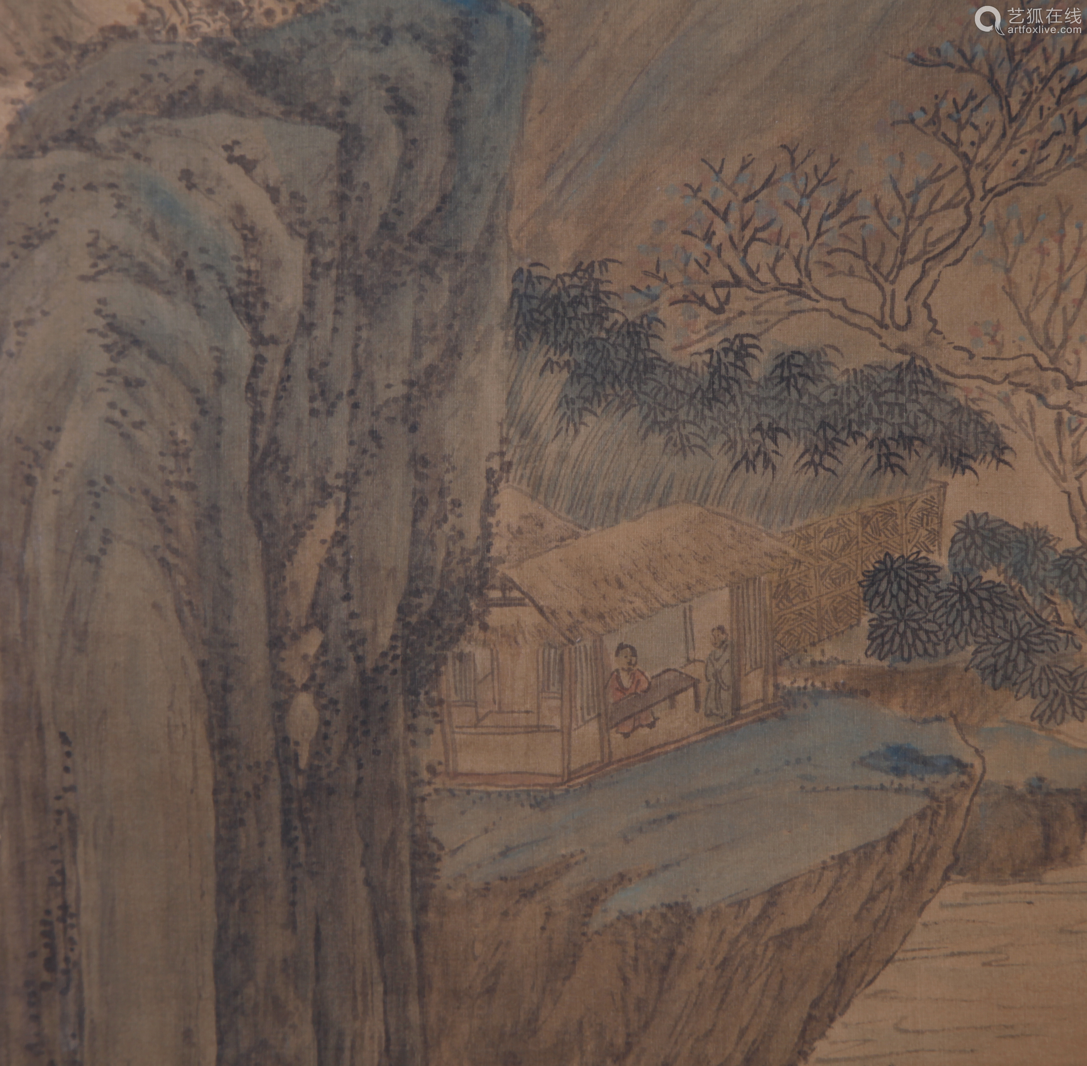 Qiu Ying - Mountain Scenery Shan Shui Painting