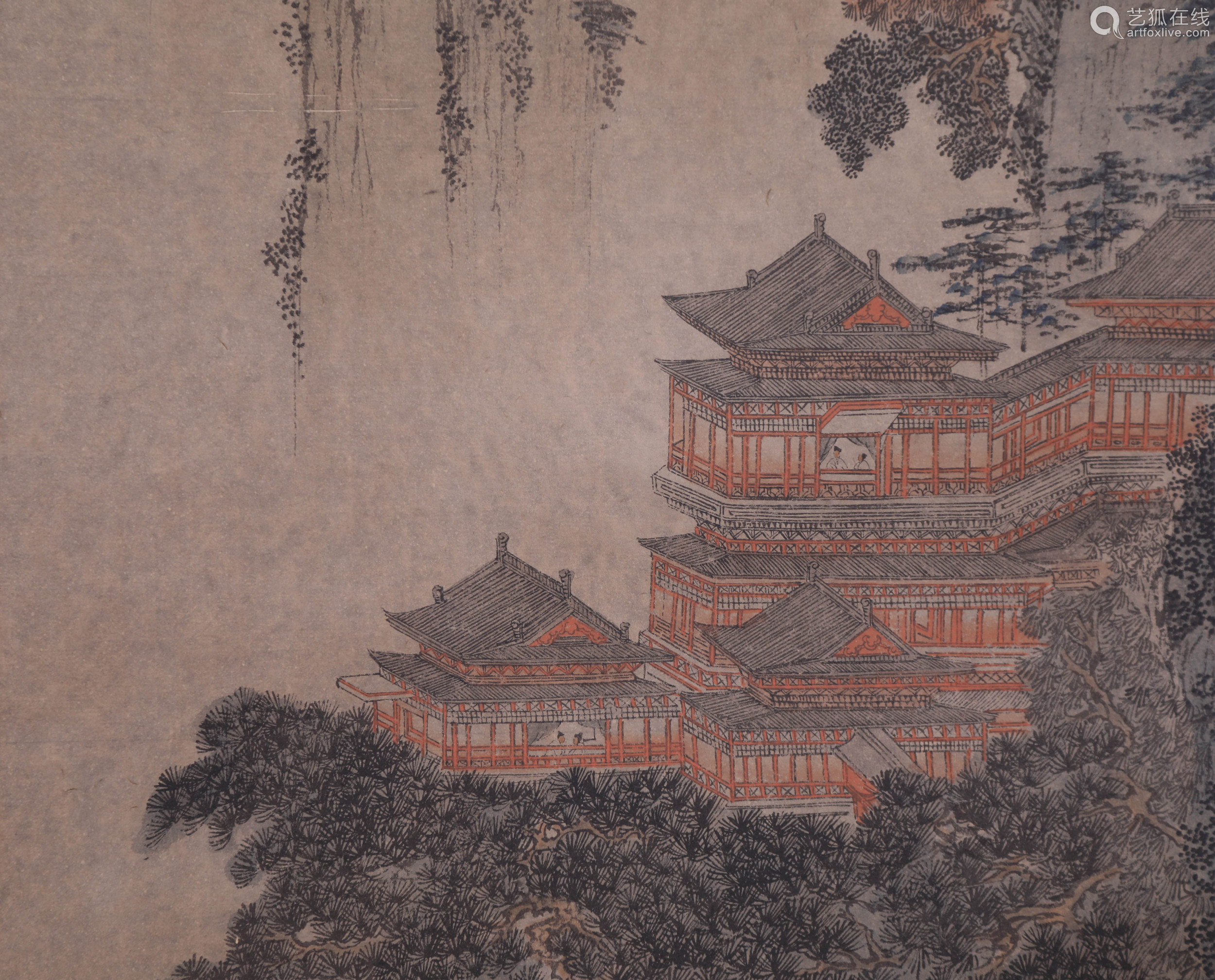 Tang Yin - Painting of Immortal Chinese Pavilion