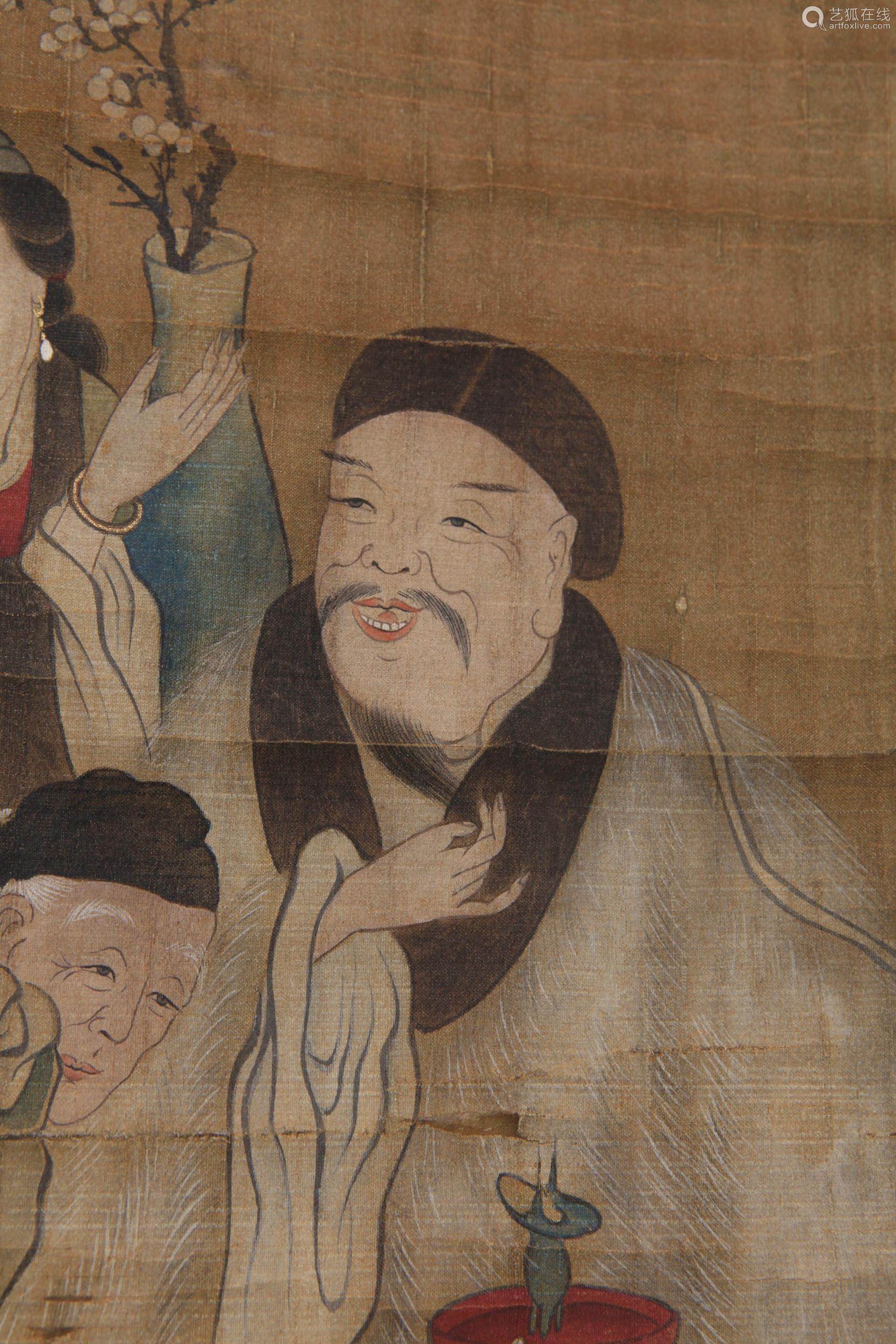 Gu Jianlong - Painting of Longevity Family