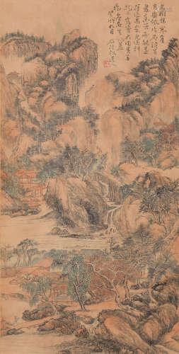 Kun Can - Mountain Scenery Shan Shui Painting