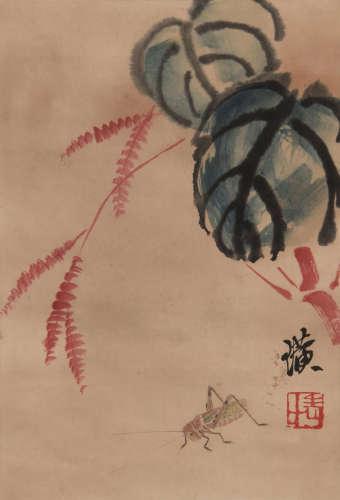 Qi Baishi - Cricket Painting